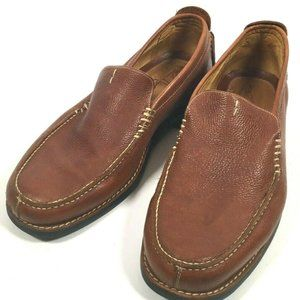 Martin Dingman Brown Leather Slip On Loafers 8/9